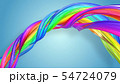 Beautiful multicolored ribbon glitters brightly. Abstract rainbow color ribbon twisted into a 54724079