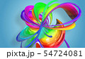 Beautiful multicolored ribbon glitters brightly. Abstract rainbow color ribbon twisted into a 54724081