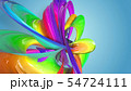 Beautiful multicolored ribbon glitters brightly. Abstract rainbow color ribbon twisted into a 54724111