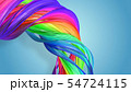 Beautiful multicolored ribbon glitters brightly. Abstract rainbow color ribbon twisted into a 54724115
