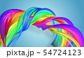 Beautiful multicolored ribbon glitters brightly. Abstract rainbow color ribbon twisted into a 54724123