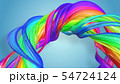Beautiful multicolored ribbon glitters brightly. Abstract rainbow color ribbon twisted into a 54724124