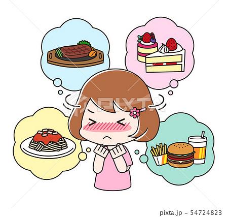 食べたいものを我慢するダイエット中の女性 上半身 54724823