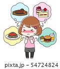 食べたいものを我慢するダイエット中の女性 全身 54724824