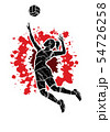 Volleyball player action cartoon graphic vector. 54726258
