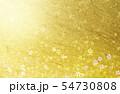 金色の和紙を背景にした桜 54730808