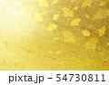 金色の和紙を背景にしたイチョウ 54730811