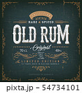 Vintage Old Rum Label For Bottle 54734101