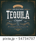Vintage Mexican Tequila Label For Bottle 54734707