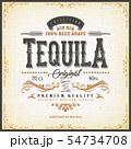 Vintage Mexican Tequila Label For Bottle 54734708