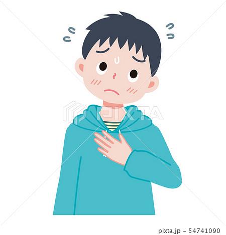 緊張する子供のイラストのイラスト素材 [54741090] - PIXTA