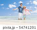 海外旅行イメージ ビーチ 海 人物 54741201