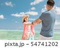 海外旅行イメージ ビーチ 海 人物 54741202