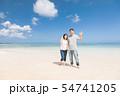 海外旅行イメージ ビーチ 海 人物 54741205