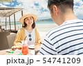 海外旅行 海の見えるレストラン 人物 ランチ 食事 54741209