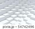ボックス立方体 白 グレー 54742496