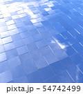 青空を反射した四角いパネル 54742499