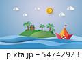 paper sailing boat 54742923