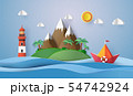 paper sailing boat 54742924