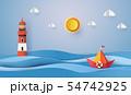 paper sailing boat 54742925