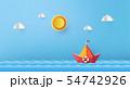 paper sailing boat 54742926