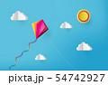 kite on sky 54742927