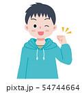 男の子 ガッツポーズ 54744664