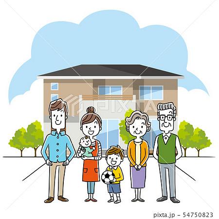 3世代家族と家、一軒家 54750823