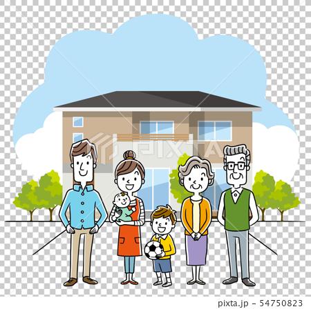 3 세대 가족과 집, 하우스 54750823