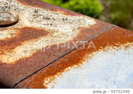 錆びた橋のガードレール 金属 サビ 欄干 54752340