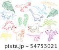 恐竜のクレヨン画 54753021