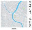 Bangkok city vector map , Thailand 54754431