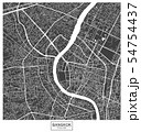 Bangkok city vector map , Thailand 54754437
