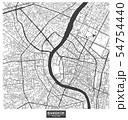 Bangkok city vector map , Thailand 54754440
