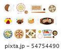 和洋中料理イラストセット 54754490