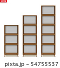 Empty rack with shelves or bookshelf 54755537