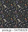 Watercolor floral vector pattern 54756329