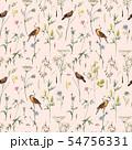 Watercolor floral vector pattern 54756331
