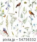 Watercolor floral vector pattern 54756332