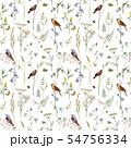 Watercolor floral vector pattern 54756334
