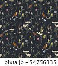 Watercolor floral vector pattern 54756335