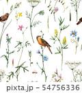 Watercolor floral vector pattern 54756336