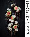 Watermelon slice cookies recipe on background.. 54763045