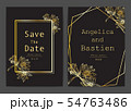 Save the date wedding card. Wedding invitation 54763486