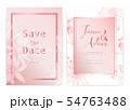 Save the date wedding card. Wedding invitation 54763488