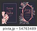Save the date wedding card. Wedding invitation 54763489