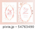 Save the date wedding card. Wedding invitation 54763490