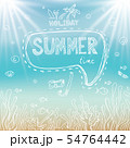 Summer holiday poster with sea, coral beach . 54764442