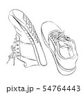 Hand drawn sneakers sketch style. 54764443