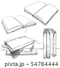 Books collection sketch style isolated on white. 54764444